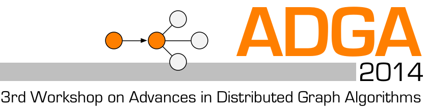 ADGA 2014: 3rd Workshop on Advances in Distributed Graph Algorithms